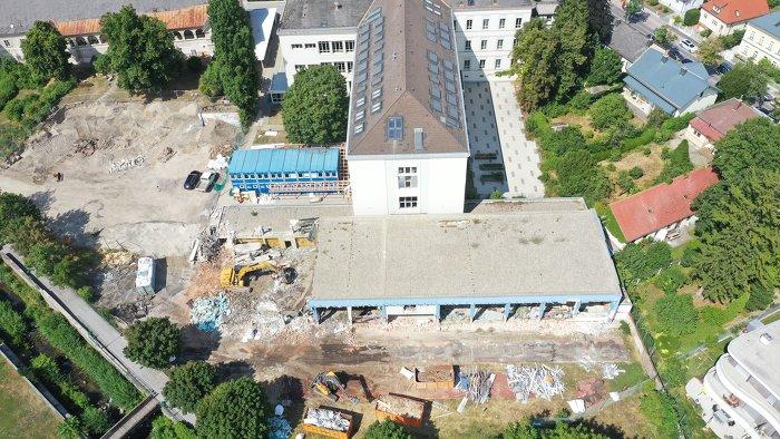 Foto Baubeginn in der Keimgasse Mödling Atelier Treusch